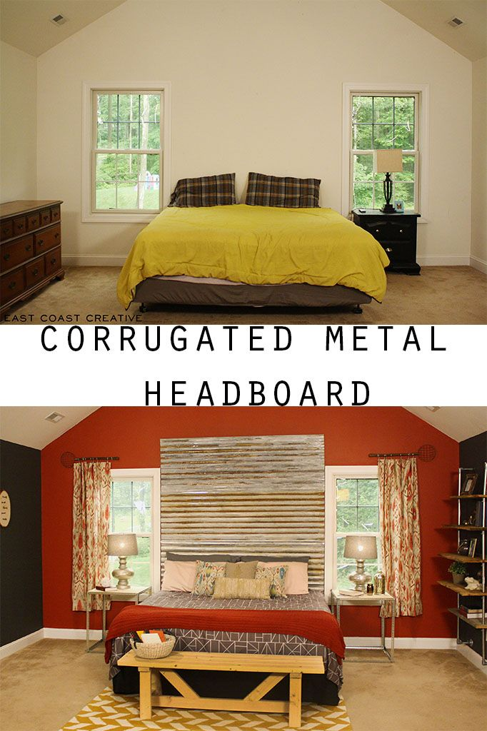 Diy Corrugated Metal Headboard Diy Headboard Bedroom