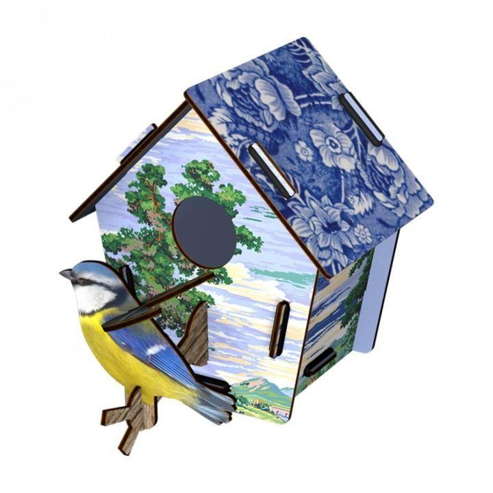 Miho Decorative Wall Sculpture Bird House and Bird Sky Lander