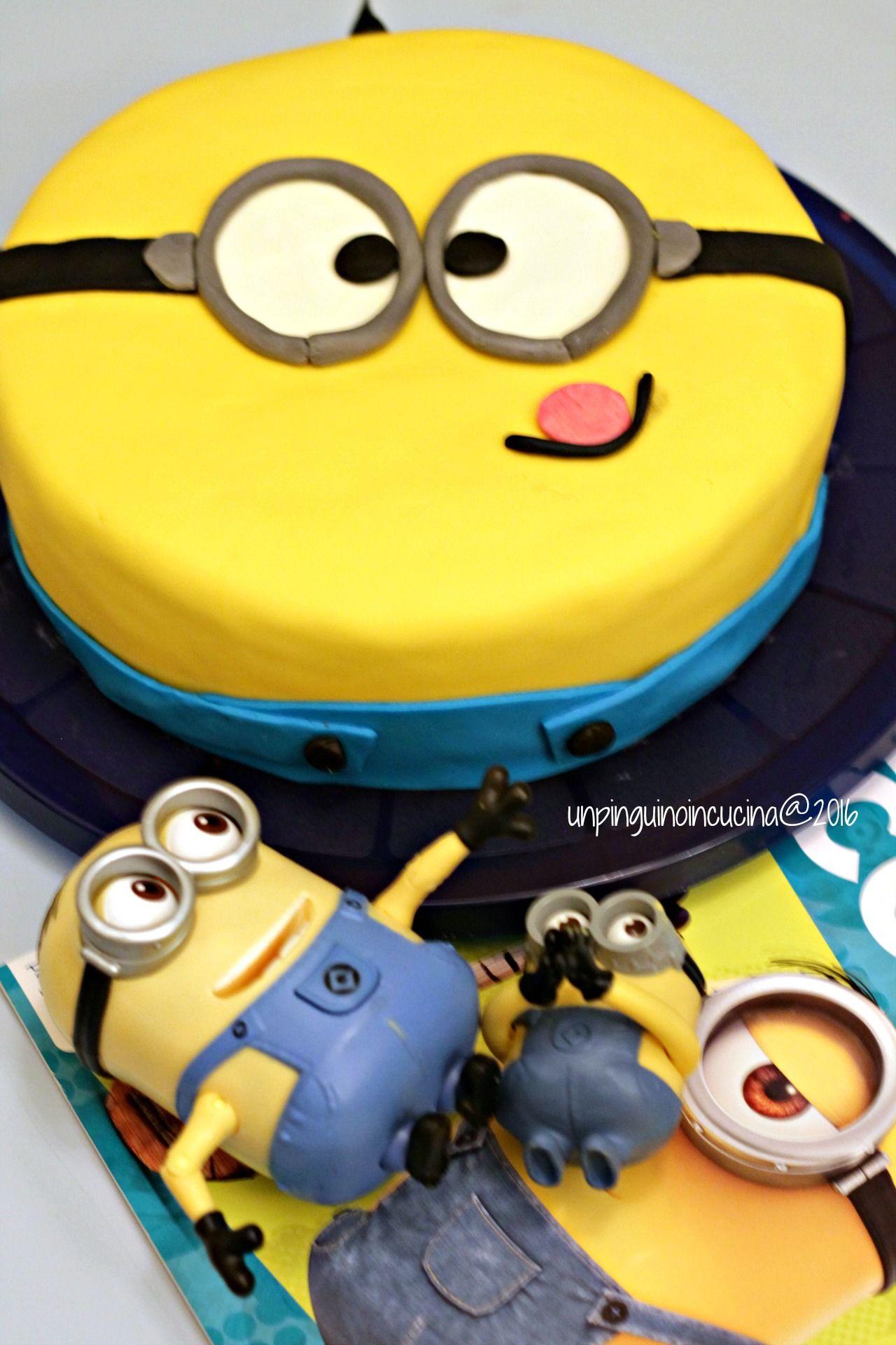 Minion Cake - Torta Minion   Un Pinguino in Cucina