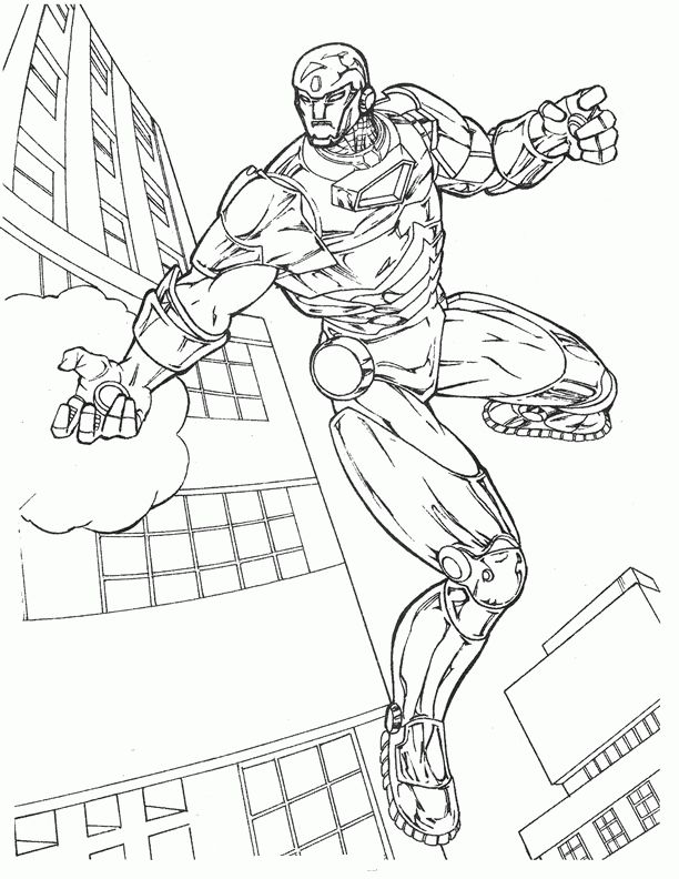 Iron Man Coloring Pages For Kids Printable Online 40