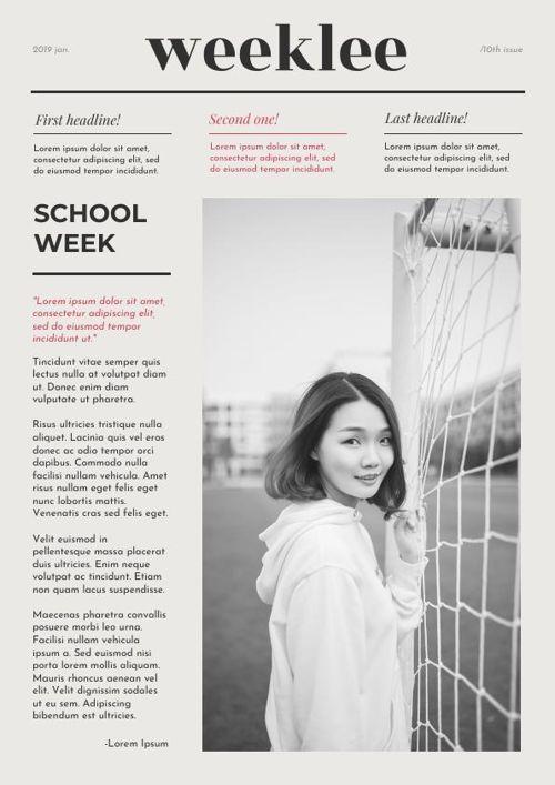 Newspaper For School Template - Flipsnack