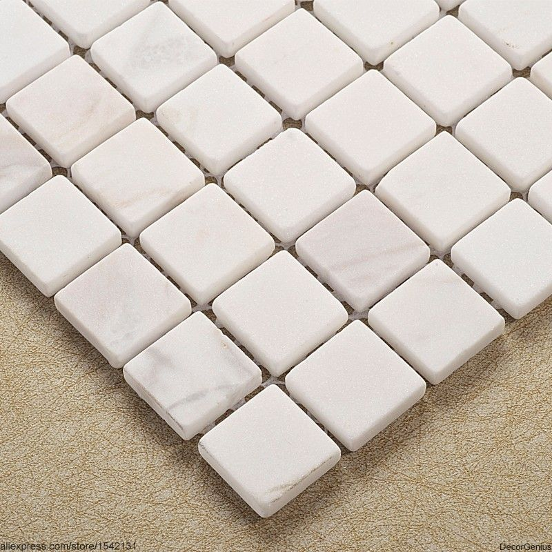 Pure White Hot Sales Dicount Mosaic Tile Stone Toilet Floor Tiles ...