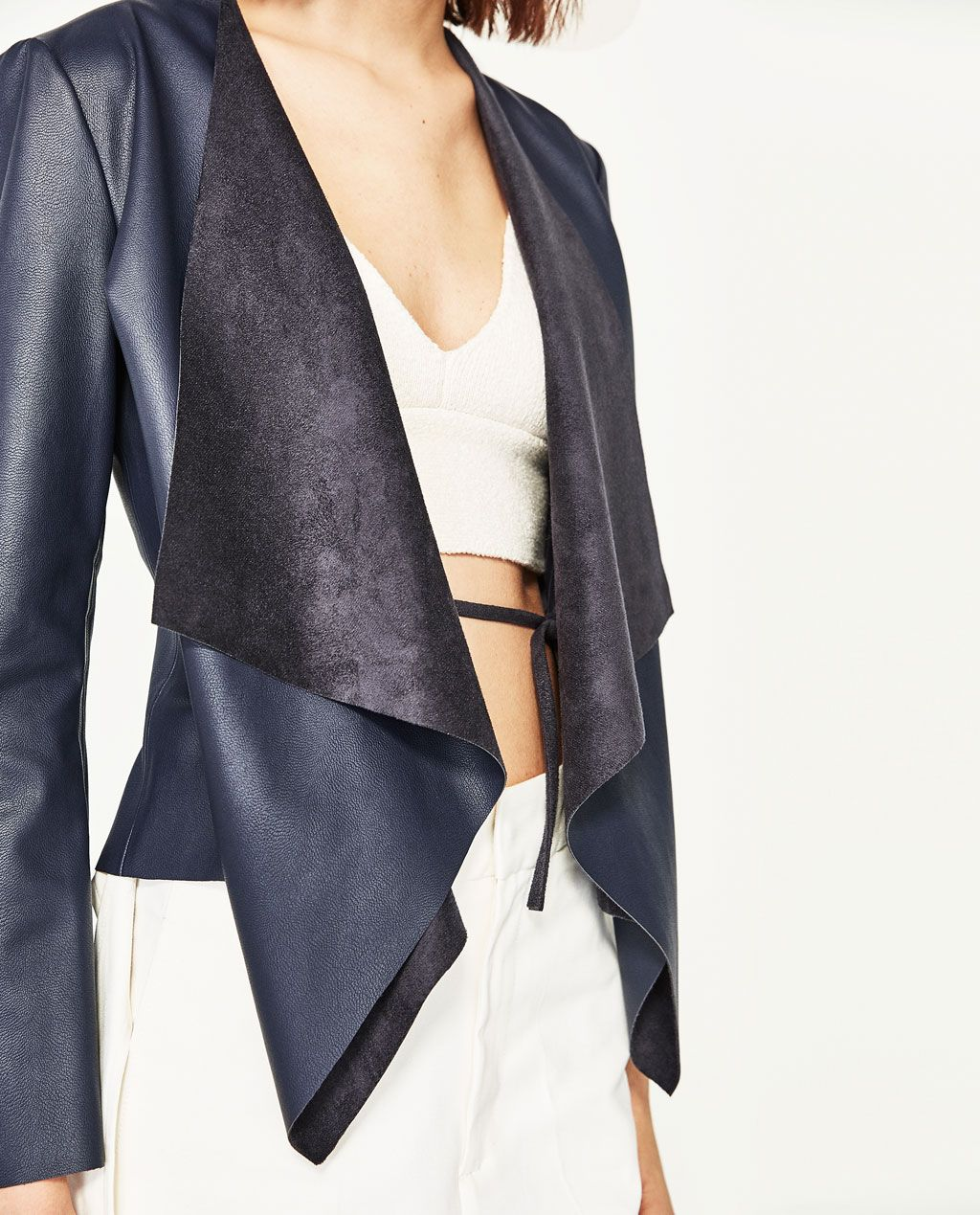 1556a0861b Image 2 of FAUX LEATHER JACKET from Zara | My Style | Faux leather ...