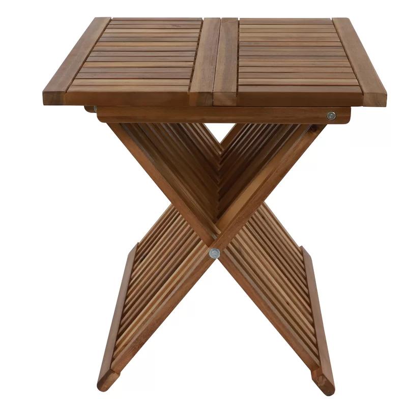 treyton wooden folding side table in