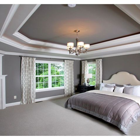 Trey Ceiling Design Ideas Pictures Remodel And Decor Contemporary Bedroom Home Tray Ceiling Bedroom
