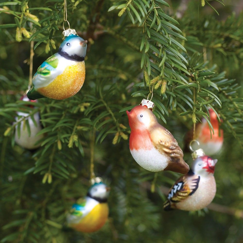 glass bird christmas ornaments - Bird Christmas Tree Decorations