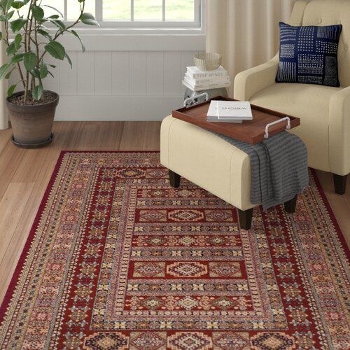 Bryce Canyon Wool Red Rug Union Rustic