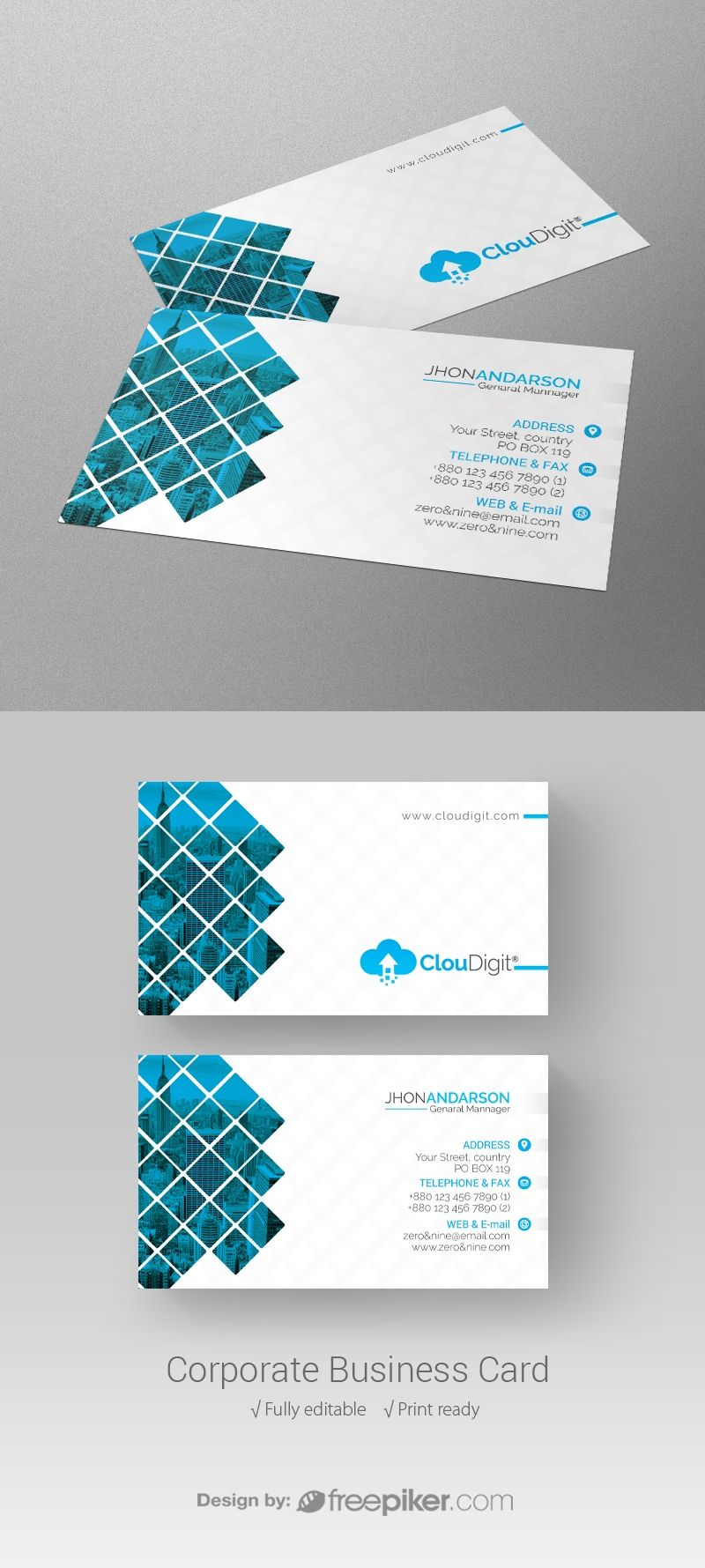 Corporate Business Card Cards Business Cards Business Card Design