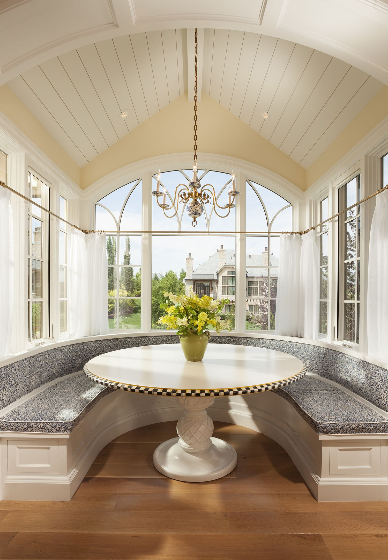 Window nook decorating ideas  weidman residence inkaec  country style custom homes