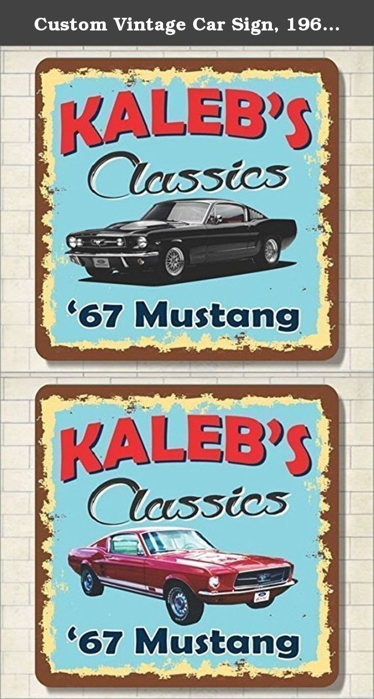 Custom Vintage Car Sign  Mustang Custom Name Personalized -  signs of cars with names