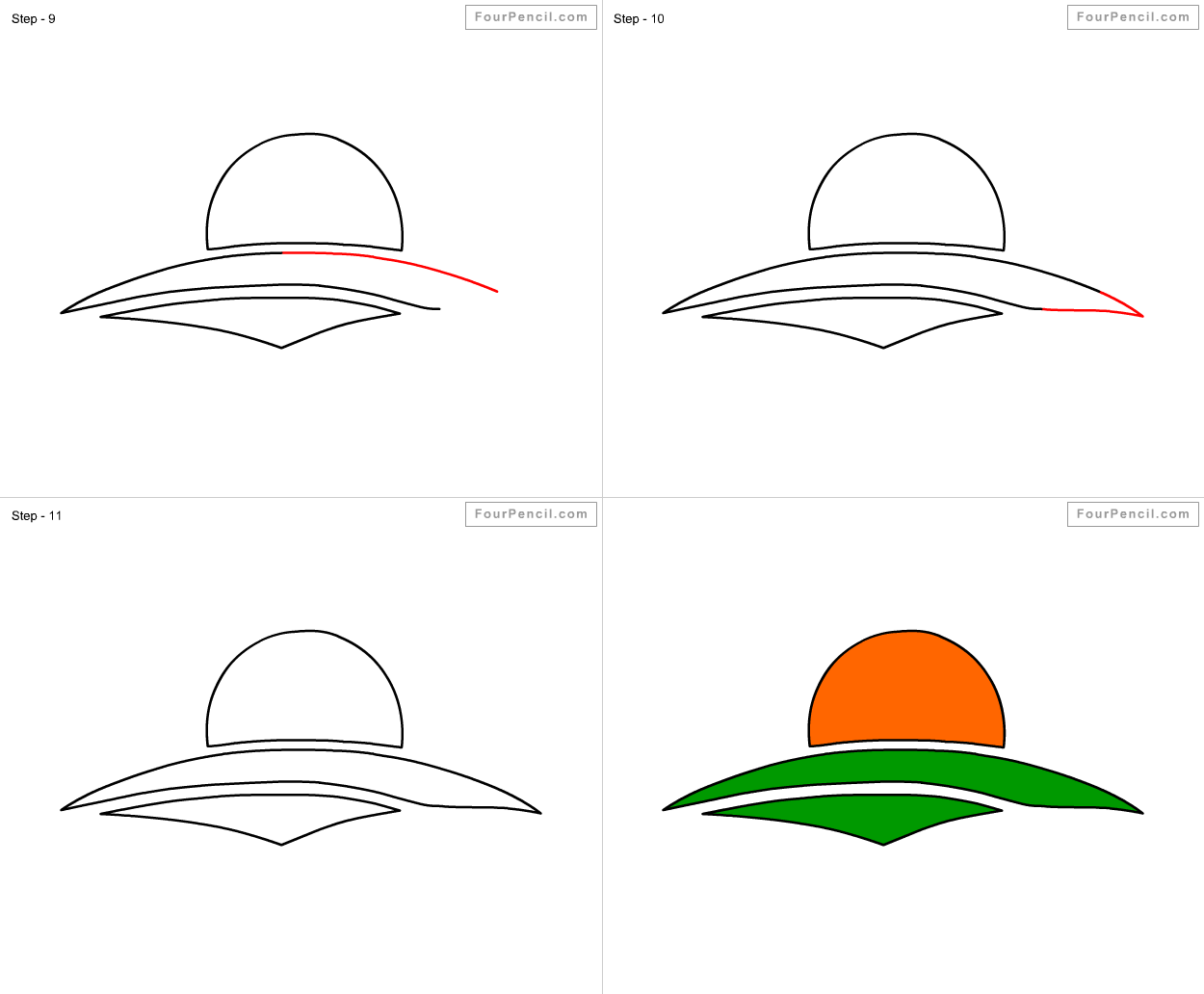 how to draw a easy sunset step by step