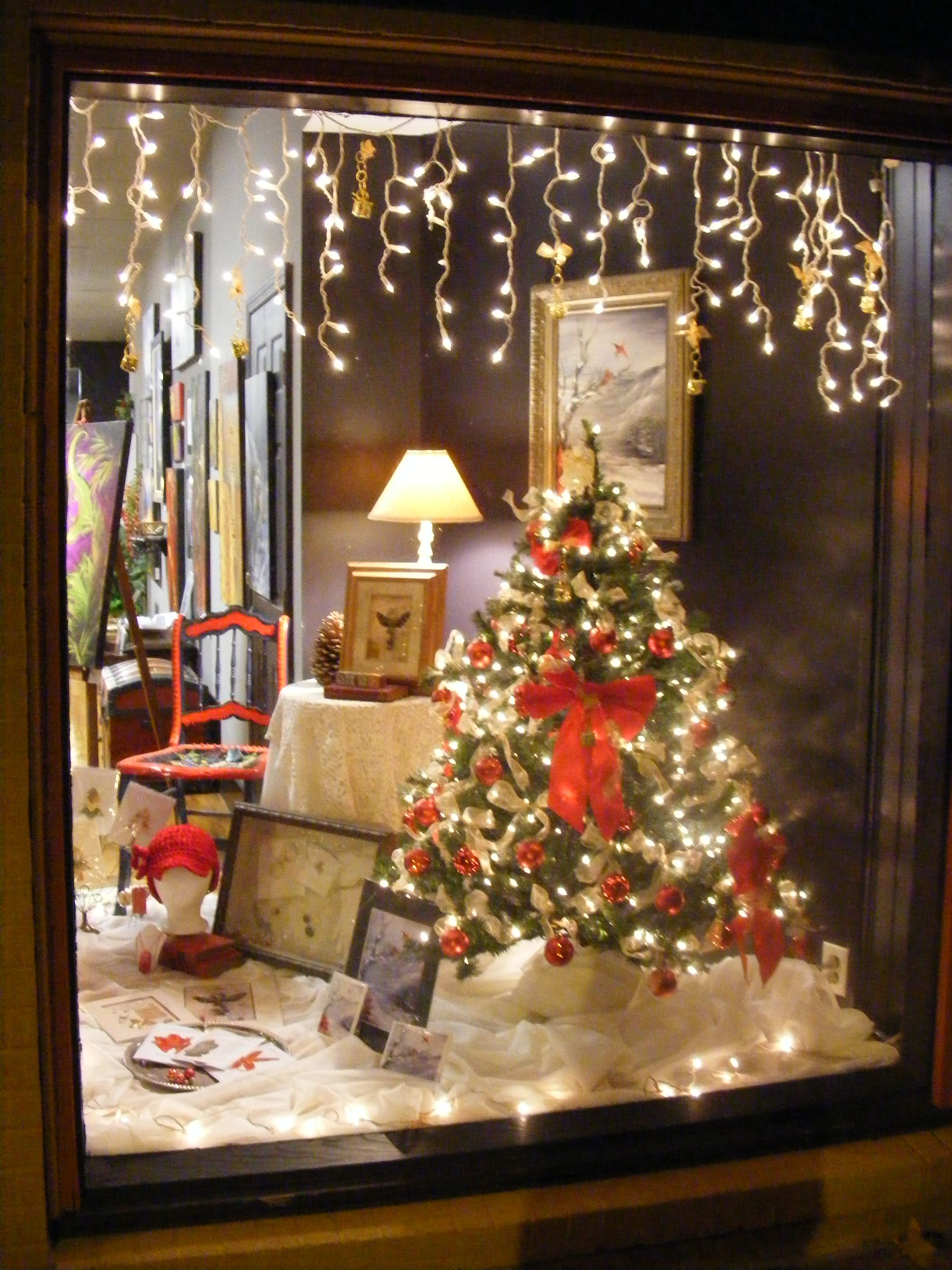 Christmas ornament display case - Our Christmas Window Display 2011 At Artistic Treasures
