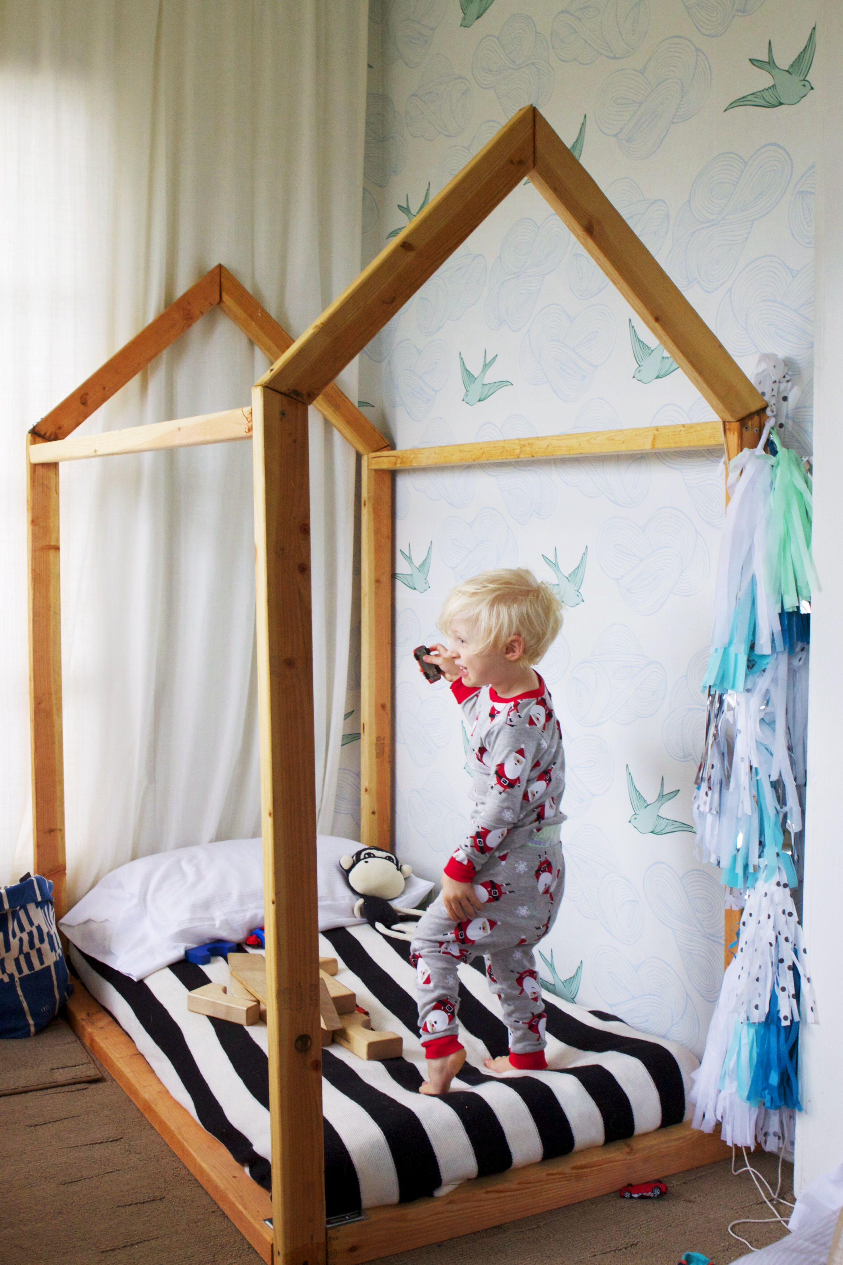 Diy Toddler House Bed, Hygge And West Removable Wall Tiles, Everly Lane  Tissue Garland