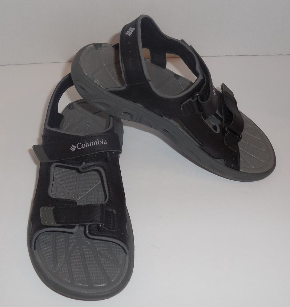5219332badb9 Boys COLUMBIA Size 3 Youth Techsun Vent Sandals Black Shoes New  Columbia   Sandals