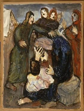 Jacob weeps over Joseph's tunic - Marc Chagall