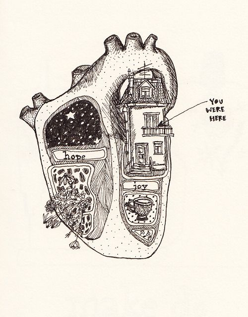 You Were Here, via Illustrated Anatomy | Hearts and Other Organs II ...