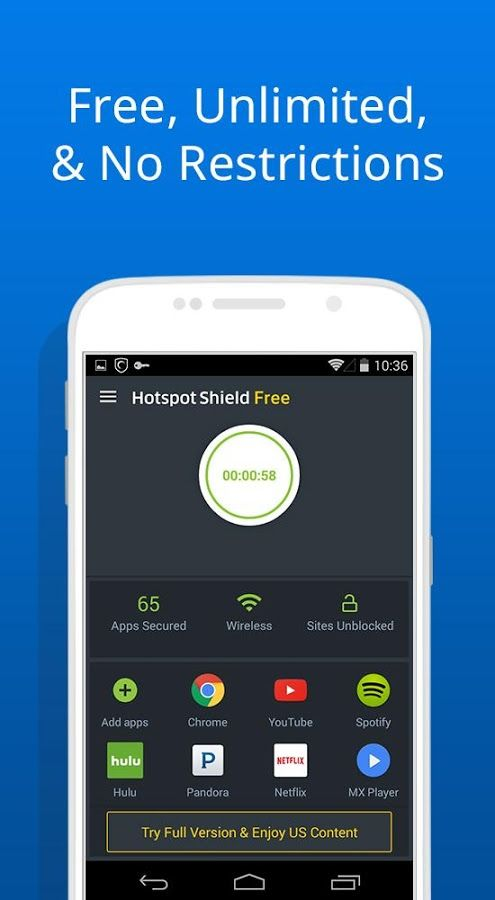 hotspot shield vpn proxy android download