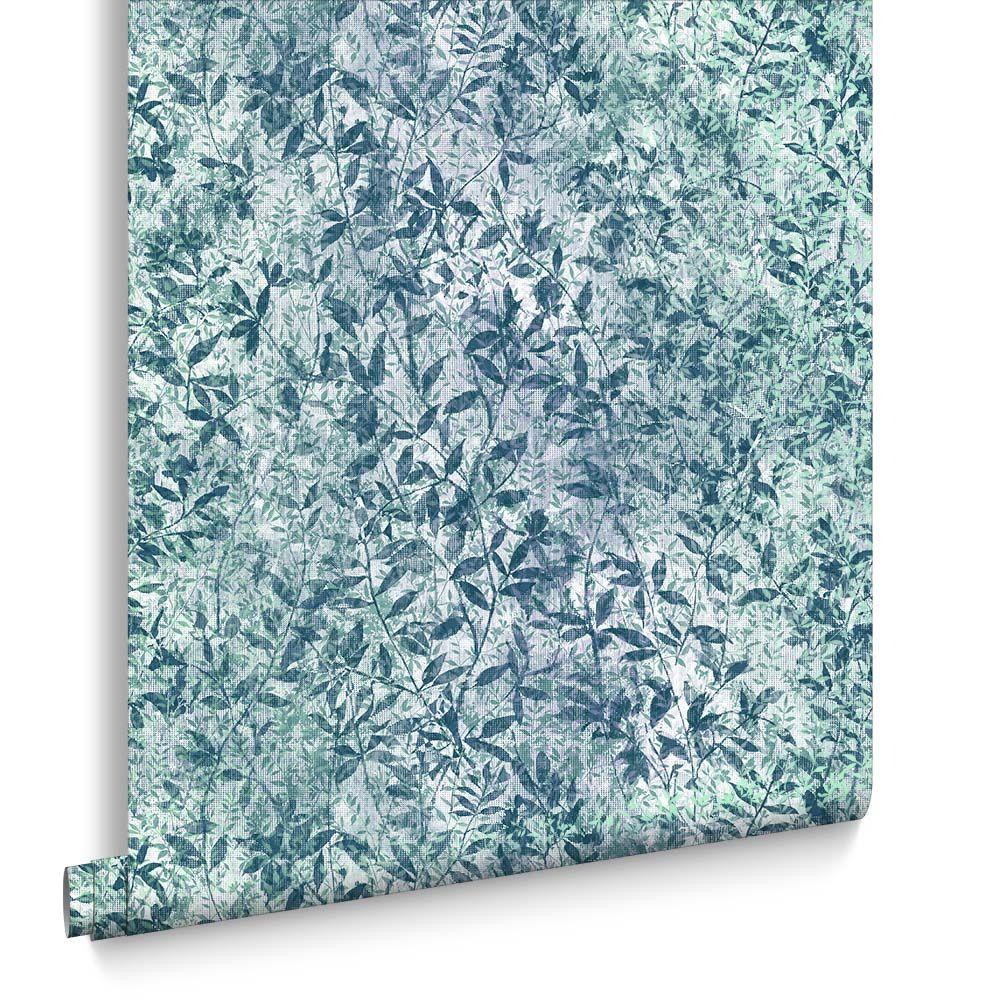 Graham & Brown Botany Iridescent Midnight Blue Wallpaper