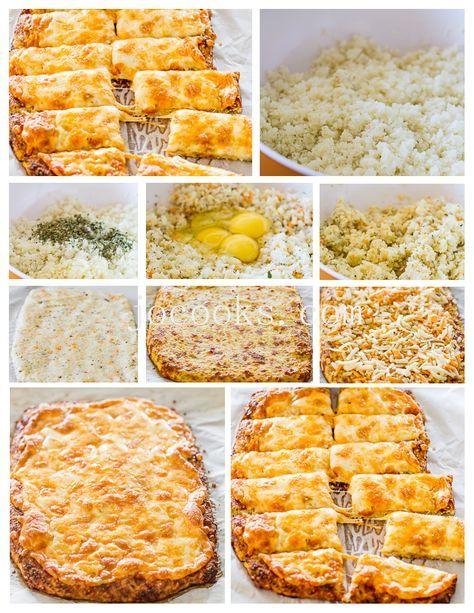 Cheesy Cauliflower Breadsticks Gluten Free Low Carb Cheesy