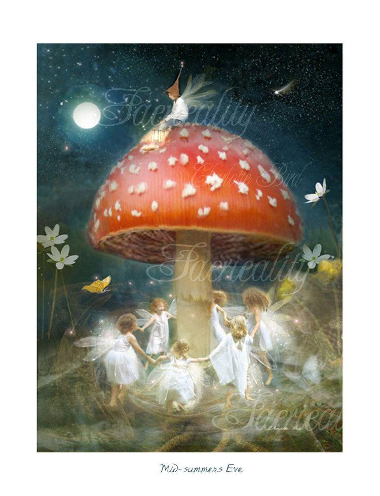 Fairy gift Print 'Midsummers Eve' by CharlotteBirdfairies