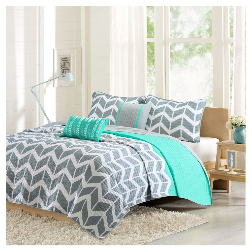 Darcy Quilted Coverlet Set KingCalifornia King pc Teal Blue