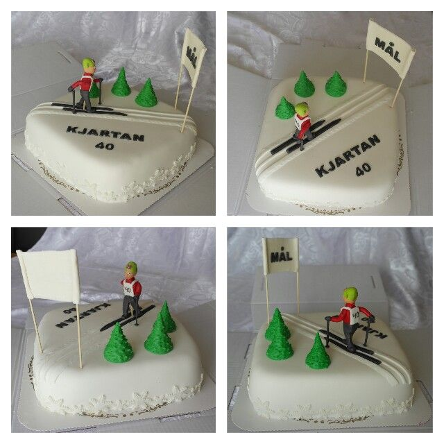 Cross Country Skiing Cake With Images Thematic Cake Dessert