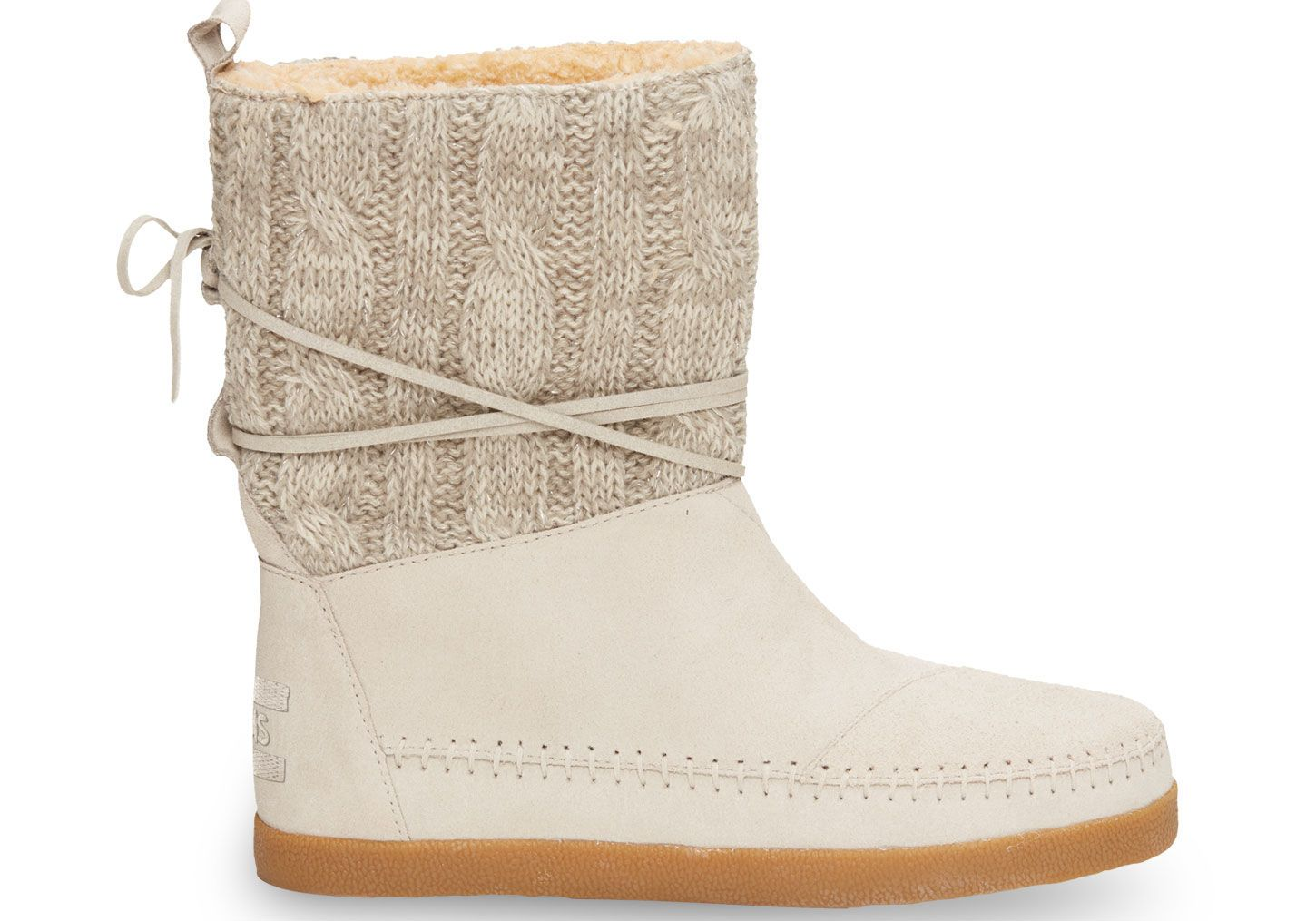 Light grey cable knit suede womenus nepal boots toms cute boots