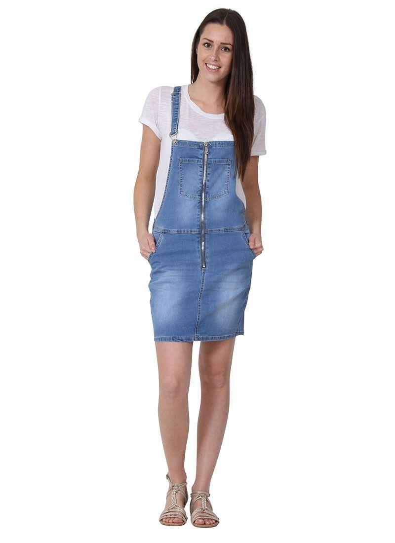 c8cb4f511fd2 Bib Overall Dress Zip Front Bib Overall Skirt, Short Skirt With Bib ...