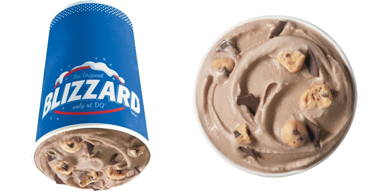 Dairy queen has a new double fudge blizzard mixed with