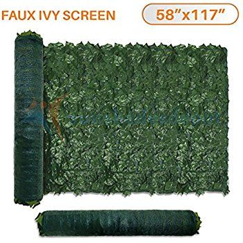 Sunshades Depot X Artificial Faux Ivy Privacy Fence Screen Leaf Vine  Decoration Panel With Mesh Back