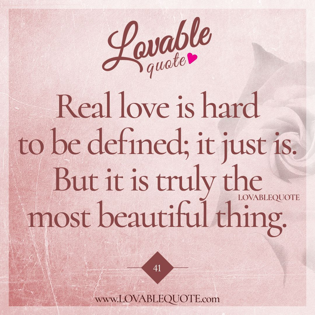 Love should not be hard to define