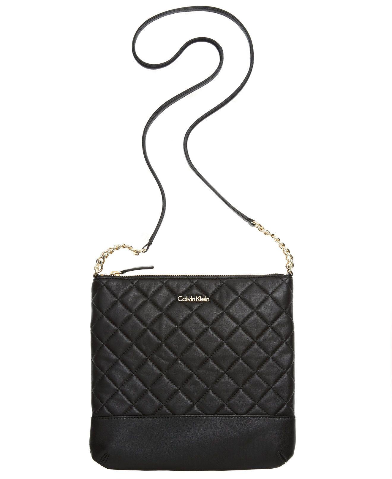 Calvin Klein Sutton Lamb Crossbody - Crossbody & Messenger Bags - Handbags & Accessories - Macy's