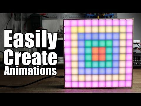 How To Easily Create Animations For Your Led Matrix Youtube Led Matrix Matrix Led
