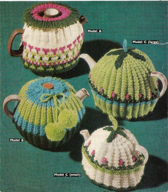 PDF Knitting Pattern Vintage Tea Cosies DK Sirdar 2518 Instant ...