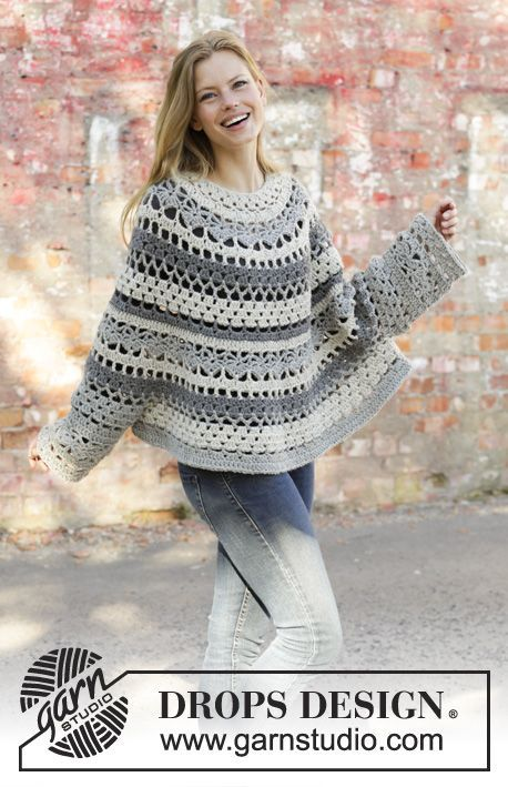 Women Poncho Free Crochet Patterns