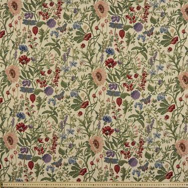 floral cottage tapestry linen 140 cm