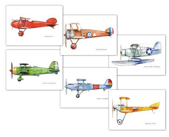 Flugzeug Dekor Kinderzimmer Vintage Flugzeug Drucke