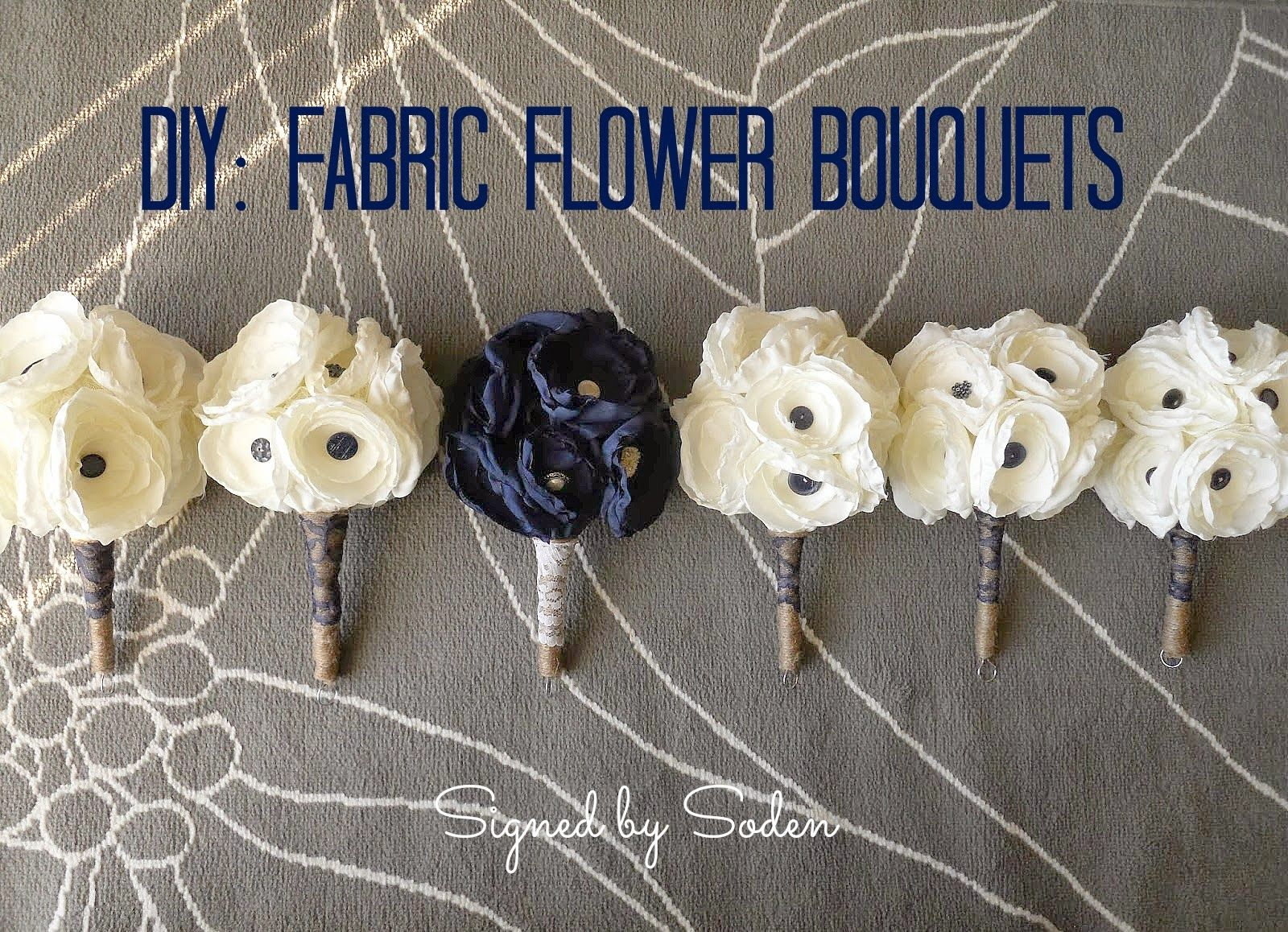 Fabric Flower Wedding Bouquets Basically Exactly What I Want To Do