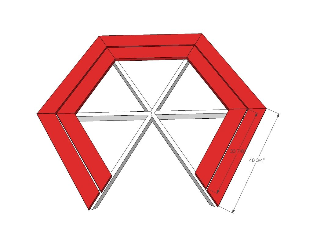Ana white build a hexagon picnic table free and easy diy project ana white build a hexagon picnic table free and easy diy project and furniture watchthetrailerfo