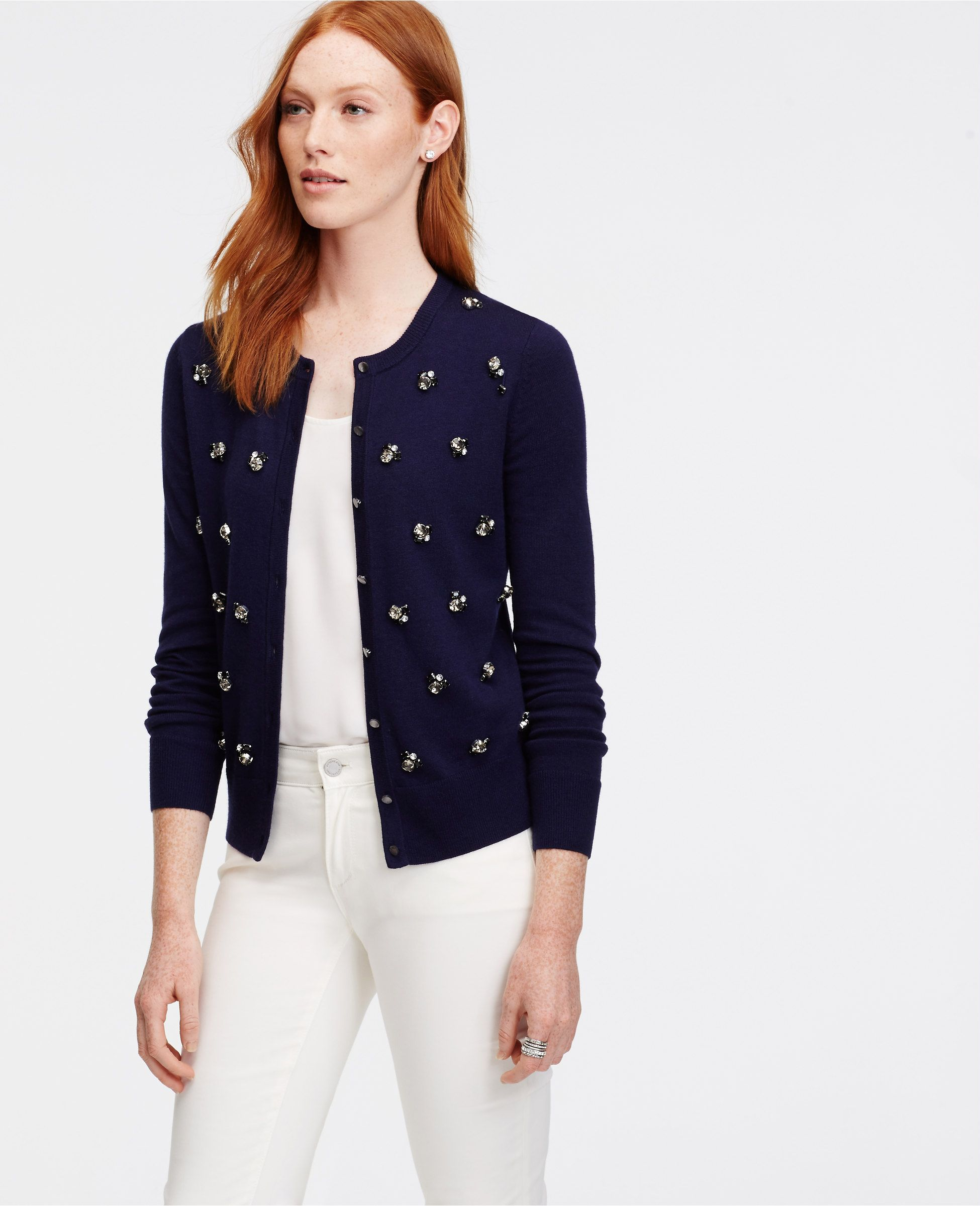 Bejeweled Ann Cardigan   Ann Taylor   Sweaters, Clothes