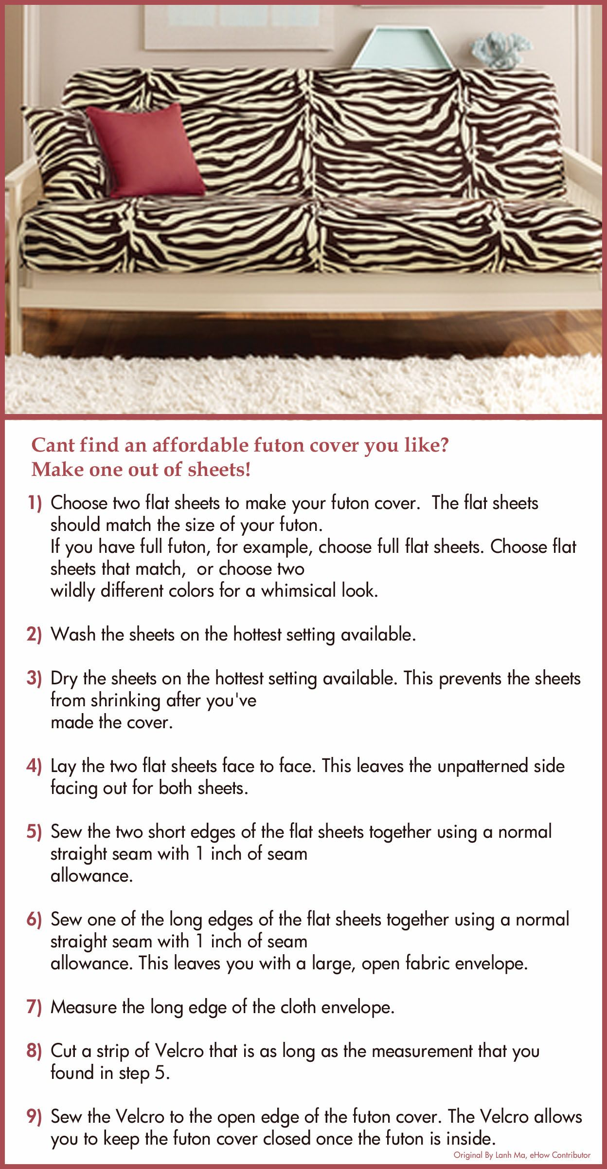 Make Your Own Futon Cover Saw This Idea On Ehow And Thought I Would Share With