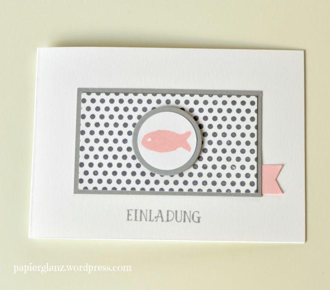 einladungskarte mit fisch | konfirmation / bu abschluß - karten, Einladung