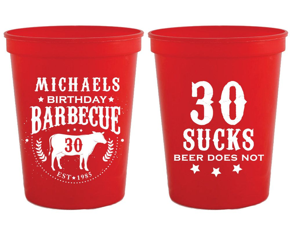 Personalized Plastic Cups Birthday