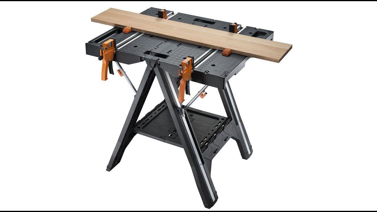Review Worx Pegasus Portable Folding Workbench Folding Workbench Work Table Simple Storage