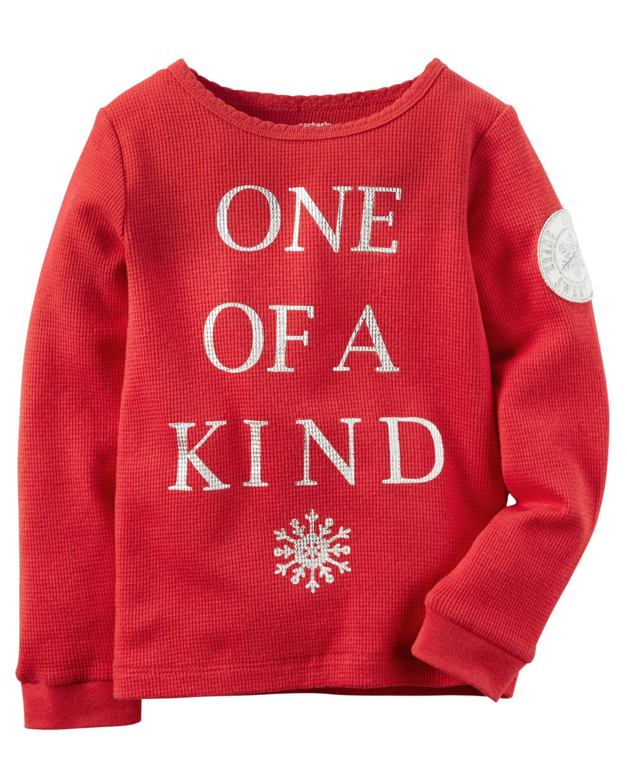 long sleeve one of a kind thermal kids girls and toddler girls
