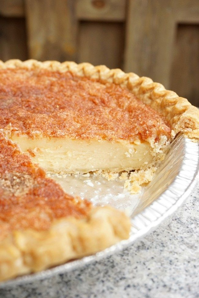 Hoosier Sugar Cream Pie - It's Autumn's Life #sugarcreampie