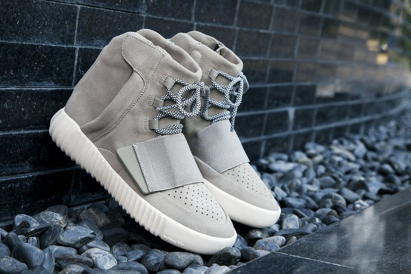 523dabd33 Adidas Yeezy 750 Boost Light Brown Carbon White-Light Brown. The high-top  sneaker features a full suede upper