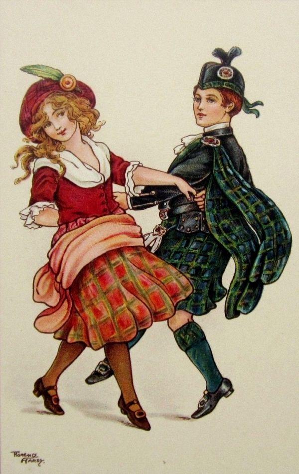 Днем рождения, шотландские открытки