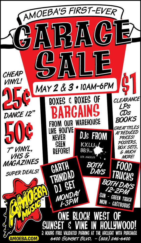 14 Garage Sale Flyers 7 | Organize | Pinterest | Fonts