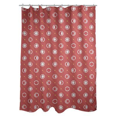 Artverse Noira Gothard Classic Moon Phases Single Shower Curtain Colour Red Yellow With Images Curtains Colorful Curtains Panel Curtains